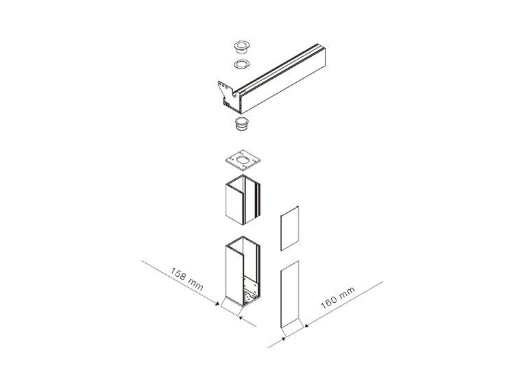 JS Window - Aerolux by Suntech - The modern pergola 現代化涼棚column connection組件安裝