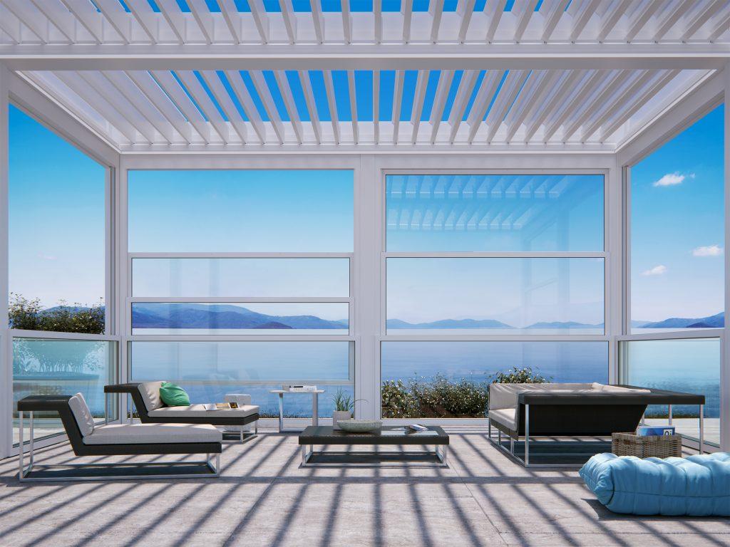 JS - Aluminium Windows in Hong Kong 香港優質鋁窗公司 - The modern pergola 現代化涼棚- Suntech