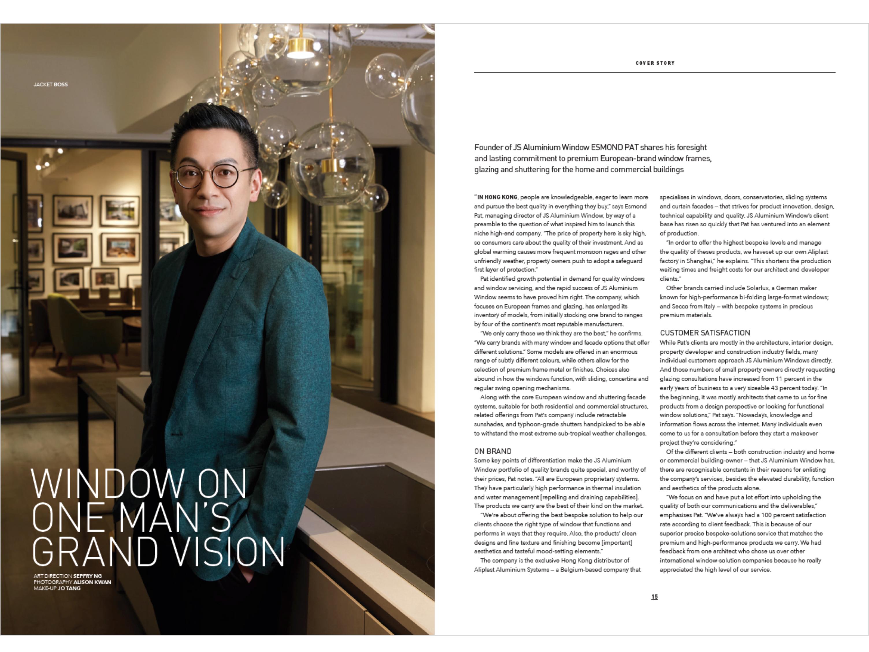 Window Expert & Founder of JS - Aluminium Windows in Hong Kong (香港優質鋁窗公司) 鋁窗專家
