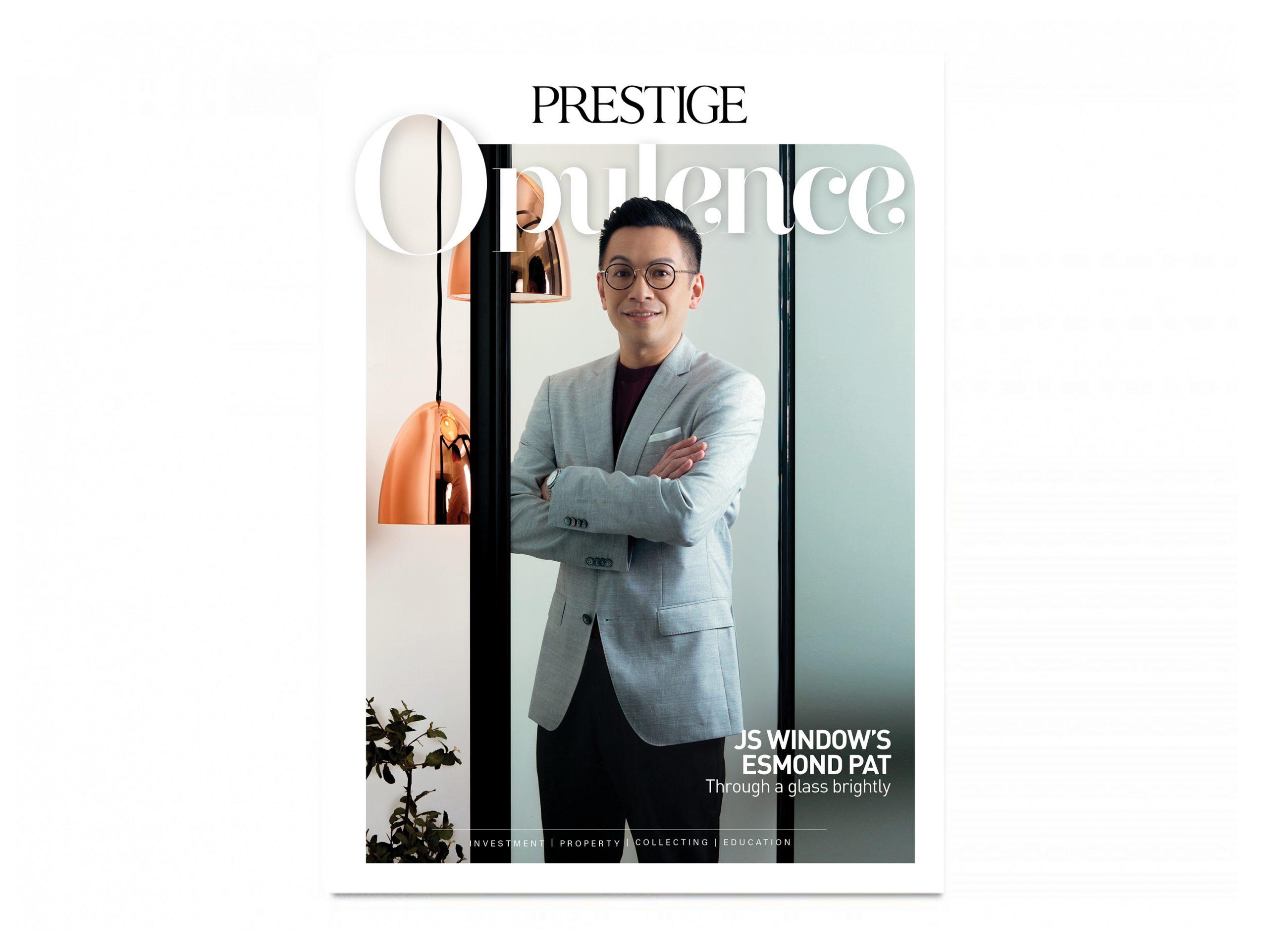 JS Aluminium window Esmond Pat Prestige Opulence Front Cover Interview