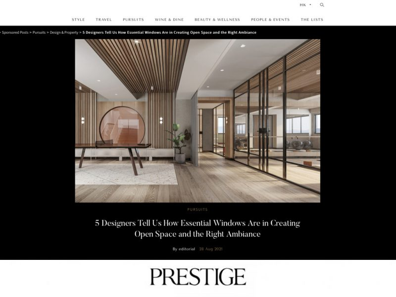 JS Aluminium Window(怡星鋁窗)邀請了五位專業設計師來談談高質窗戶。